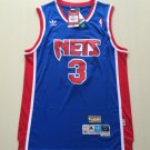 Men's Brooklyn Nets 3# Drazen Petrovic Blue Basketball Throwback Jersey