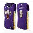 Men's  2018 New Orleans Pelicans 9 Rajon Rondo Purple Basketball Jersey