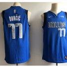 Men's  Dallas Mavericks 77# Luka Doncic Swingmen Basketball Jersey Blue 2018