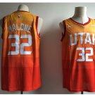 Men's Utah Jazz 32# Karl Malone Swingmen Basketball Jersey Orange 2018