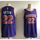 Men's 2018 Phoenix Suns 22# Deandre Ayton Purple Basketball Stitched Swingmen Jersey