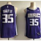 Men's Sacramento Kings 35# Marvin Bagley III Purple Basketball jersey
