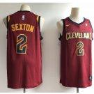 Men's Cleveland Cavaliers 2# Collin Sexton Swingmen Basketball Jersey Red 2018