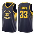Men's Indiana Pacers 33# Myles Turner Navy Basketball Swingmen Jersey Blue new