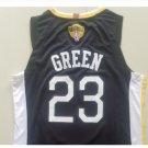 Men's 2018 NBA Finals Jersey Golden State 23# Draymond Green Swingman Black Jerseys