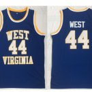 Mens Jerry West #44 West Virginia Mountaineers College Basketball Jersey