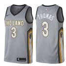MENS 2018 Cleveland Cavaliers 3 Isaiah Thomas Stitiched Basketball Jersey Gray