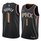 Mens Phoenix Suns #1 Devin Booker Black Basketball Stitched Jerseys