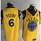 MENS Golden State Warriors 6 Nick Young Basketball Stitched Jersey Yellow