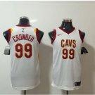 Mens, 2018 Cleveland Cavaliers 99 Jae Crowder Basketball Stitched Jersey White