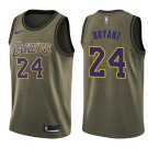 Men's Los Angeles Lakers #24 Kobe Bryant Jersey Army Green New
