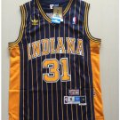 Indiana Peacers 31# Reggie Miller Black Basketball Throwback Jersey
