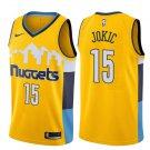 Mens Denver Nuggets #15 Nikola Jokic Basketball Stitched Jersey Yellow