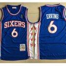 Philadelphia 76ers #6 Julius Erving Blue Basketball Jersey