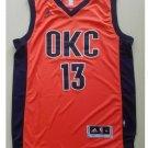 Oklahoma City Thunder #13 Paul George Red Basketball Jersey