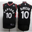 Mens 2018 Raptors #10 Demar Derozan Black Basketball Jersey