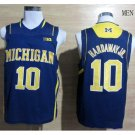 Michigan Wolverines Tim Hardaway Jr. #10 Basketball Blue NCAA Jersey