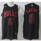 Mens Chicago Bulls 8 Zach LaVine Black Stitched Basketball Jersey
