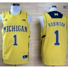 Michigan Wolverines Glenn Robinson III #1 Basketball Yellow Jersey