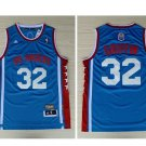 Mens LA Clippers 32# Blake Griffin Basketball Throwback Jersey Blue New