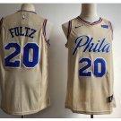 Mens Philadelphia #20 Markelle Fultz Cream Basketball Jersey 2018