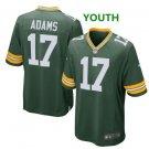 Youth kid Packers #17 Davante Adams jersey green