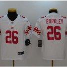 Youth kid New York Giants #26 Saquon Barkley vapor jersey white