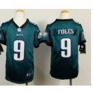 Youth Kid Eagles 9 Eagles #9 Nick Foles jersey green