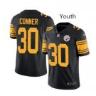 Youth Kid Pittsburge Steelers #30 James Conner jersey black