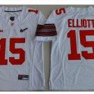 Youth Ohio State Buckeys #15 Ezekiel Elliott College Football Jersey white