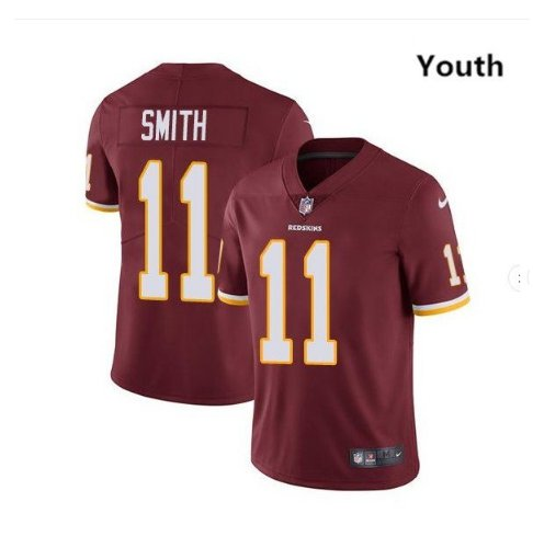 Youth kid Redsikns Alex Smith color rush jersey burgundy red
