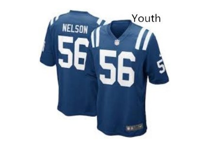 Youth Kid Indianapolis Colts #56 Quenton Nelson jersey BLUE