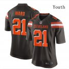 Youth Kid Cleveland Browns 21 Denzel Ward jersey brown