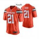 Youth Kid boys Cleveland Browns 21 Denzel Ward jersey orange