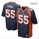 Youth Kid Broncos #55 Bradley Chubb jersey navy blue