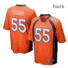 Youth Kid Broncos #55 Bradley Chubb jersey orange