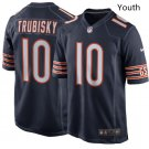 Youth Kid Chicago Bears 10 Mitchell Trubisky jersey navy