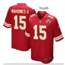 Youth KC Chiefs #15 Patrick Mahomes jersey red