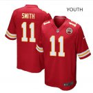 Youth KC Chiefs #11 Alex Smith game jersey red