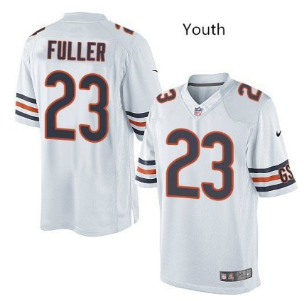 Youth kid chicago Bears #23 kyle fuller football jersey white