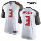 Youth kids Tampa Bay Buccaneers #3 Jameis Winston jersey white