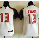 Youth kids Buccaneers #13 Mike Evans Stitched jersey white