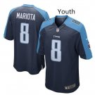 Youth kid Tennessee Titans #8 Marcus Mariota football Jersey navy blue