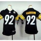 Youth kid Steelers #92 James Harrison Football jersey black