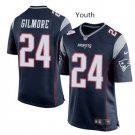Youth boys Patriots 24 Stephon Gilmore jersey navy blue