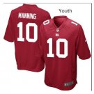 Youth boys New York Giants #10 Eli Manning Jersey red
