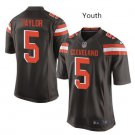 Youth Cleveland Browns #5 Tyrod Taylor football jersey brown