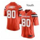 Youth kid Cleveland Browns #80 Jarvis Landry game jersey orange