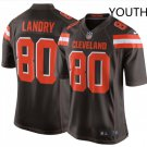 Youth kid Cleveland Browns #80 Jarvis Landry game jersey