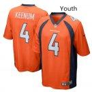 Youth kid Denver Broncos #4 Case Keenum Football jersey orange